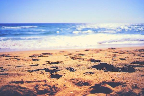 beach close up of sand