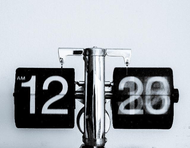 Motivating Change digital clock is changing