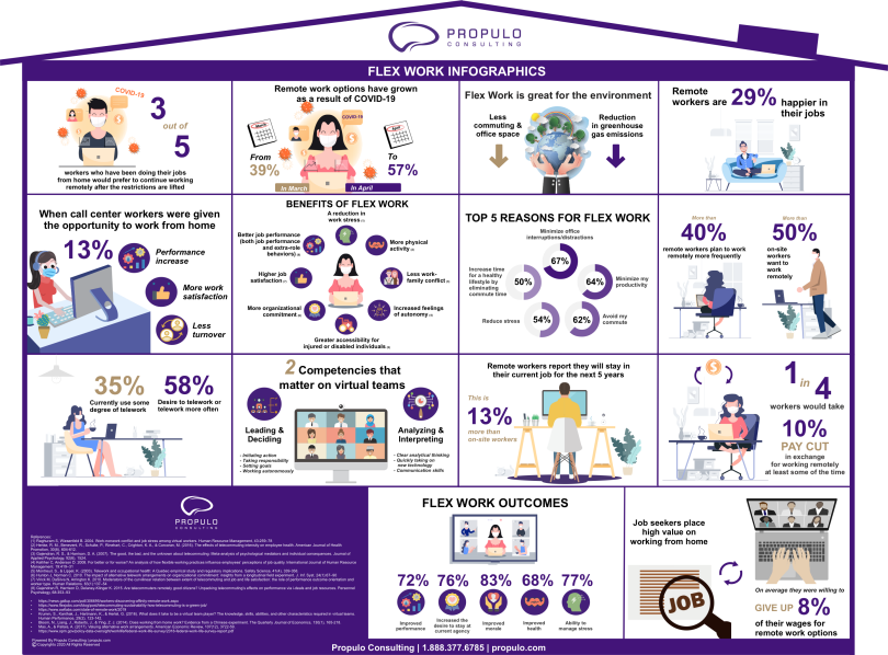 Flex work Infographics by propulo