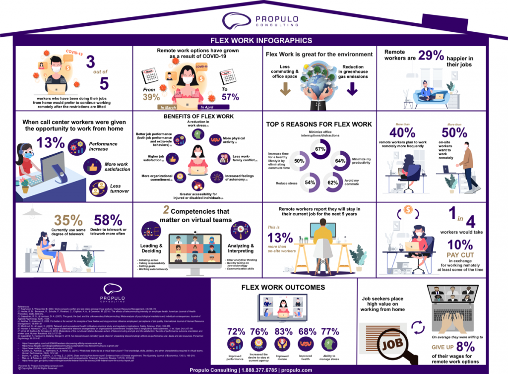 Flex Work infographics by propulo consulting