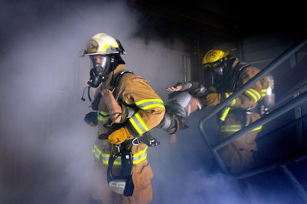 firefighter in PPE, safety role modeling