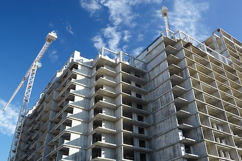 buildings under construction; the construction industry will be negatively impacted by covid