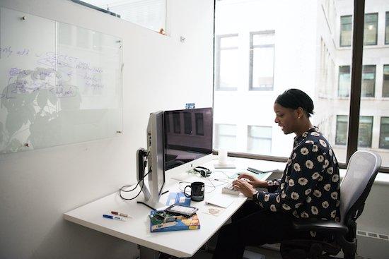 teleworker exhibiting flex work leadership competencies