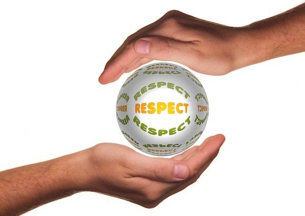 Holding respect ball