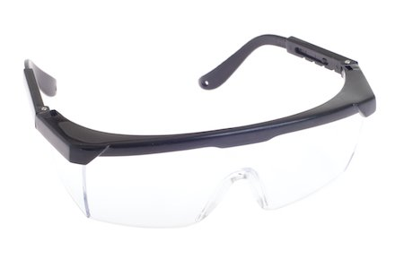 safety glasses; PPE is an important safety policy
