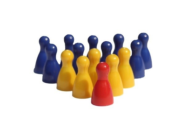 figurines lead by a leader; self motivation is essential for safety leaders