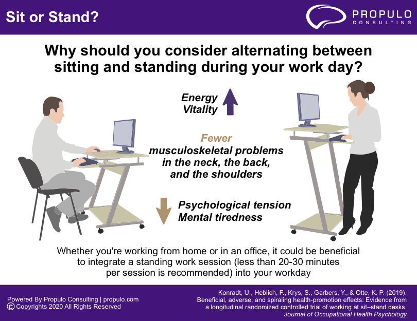 sit and stand infographics by propulo consulting