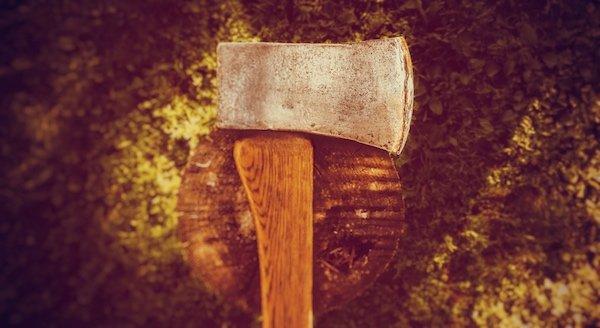 ax and tree