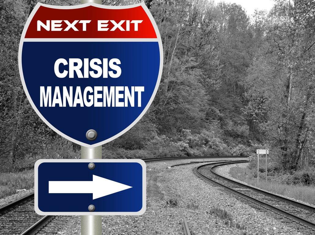 crisis management sign