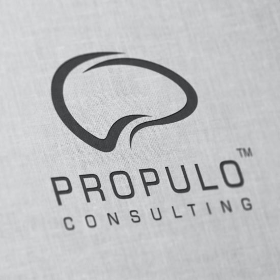 Propulo consulting logo engraved on paper