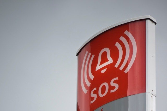 alarm that says SOS; near miss reporting is essential to safety culture